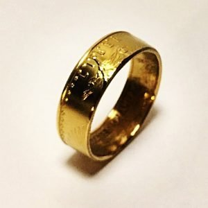 Gold Eagle Coin Ring