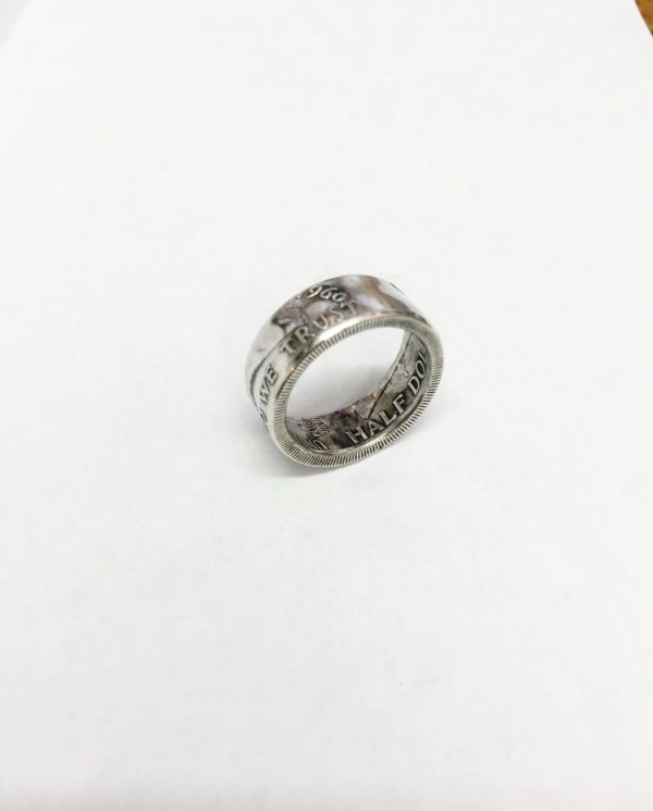 Benjamin Franklin Half Dollar Coin Ring2