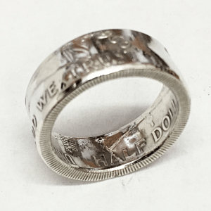 Franklin Half Dollar Gloss Coin Ring