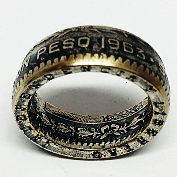 Mexican Peso Coin Ring