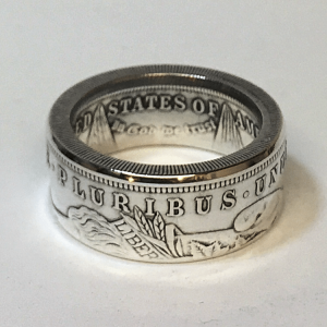 Morgan Dollar Coin RIng Heads Out Gloss