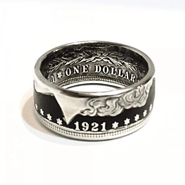 Morgan Dollar Heads Out Powder Coin Ring