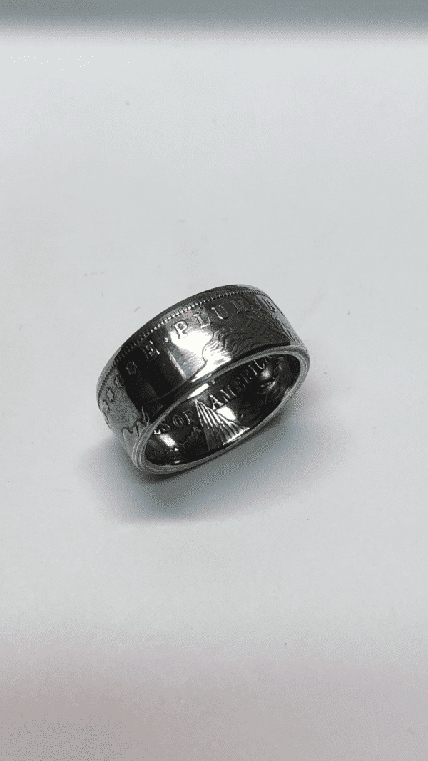 Morgan Dollar Heads Out Gloss Coin Ring