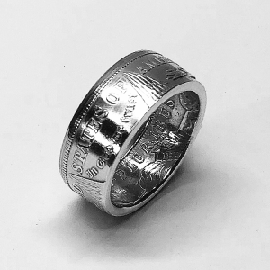 Morgan Dollar Tails Out Gloss Coin Ring