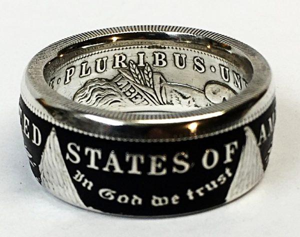 Morgan Dollar Tails Powder Coat Ring